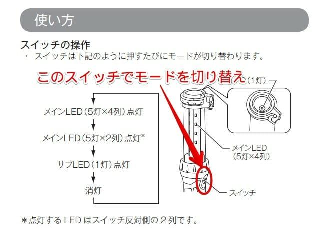 マキタml807取説スイッチ
